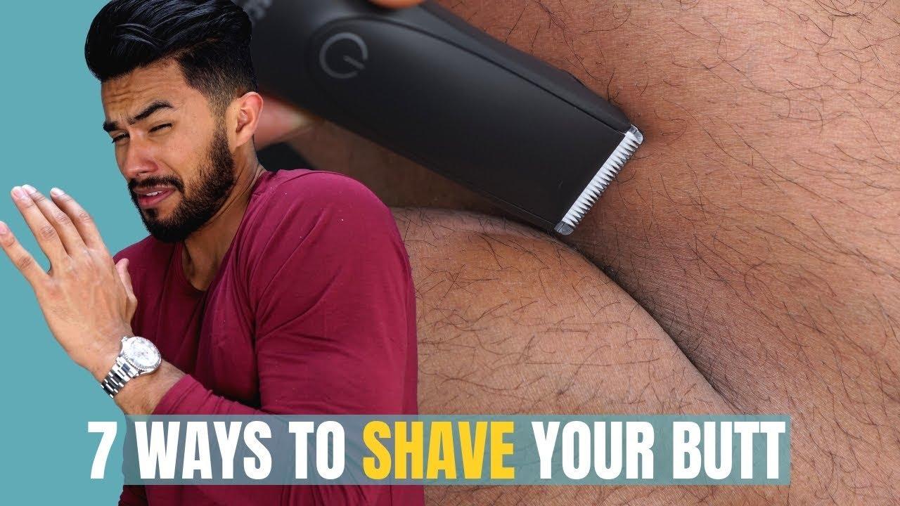 Shaving a mans ass