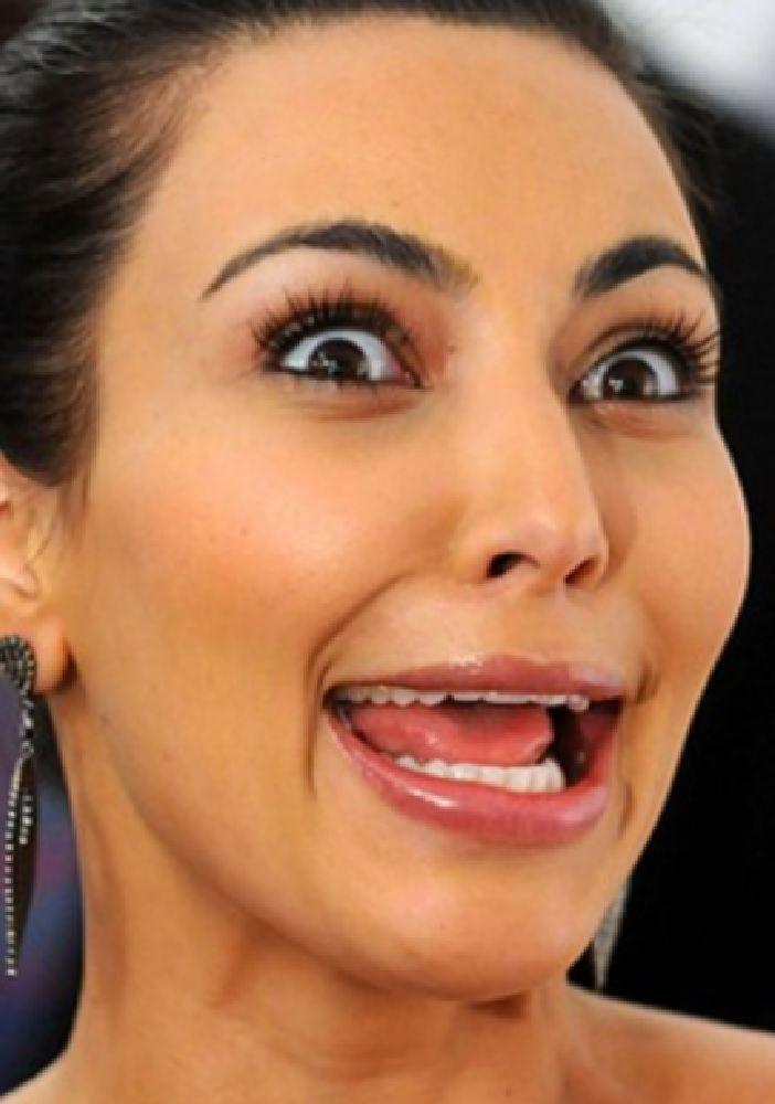 Kim kardashian funny face
