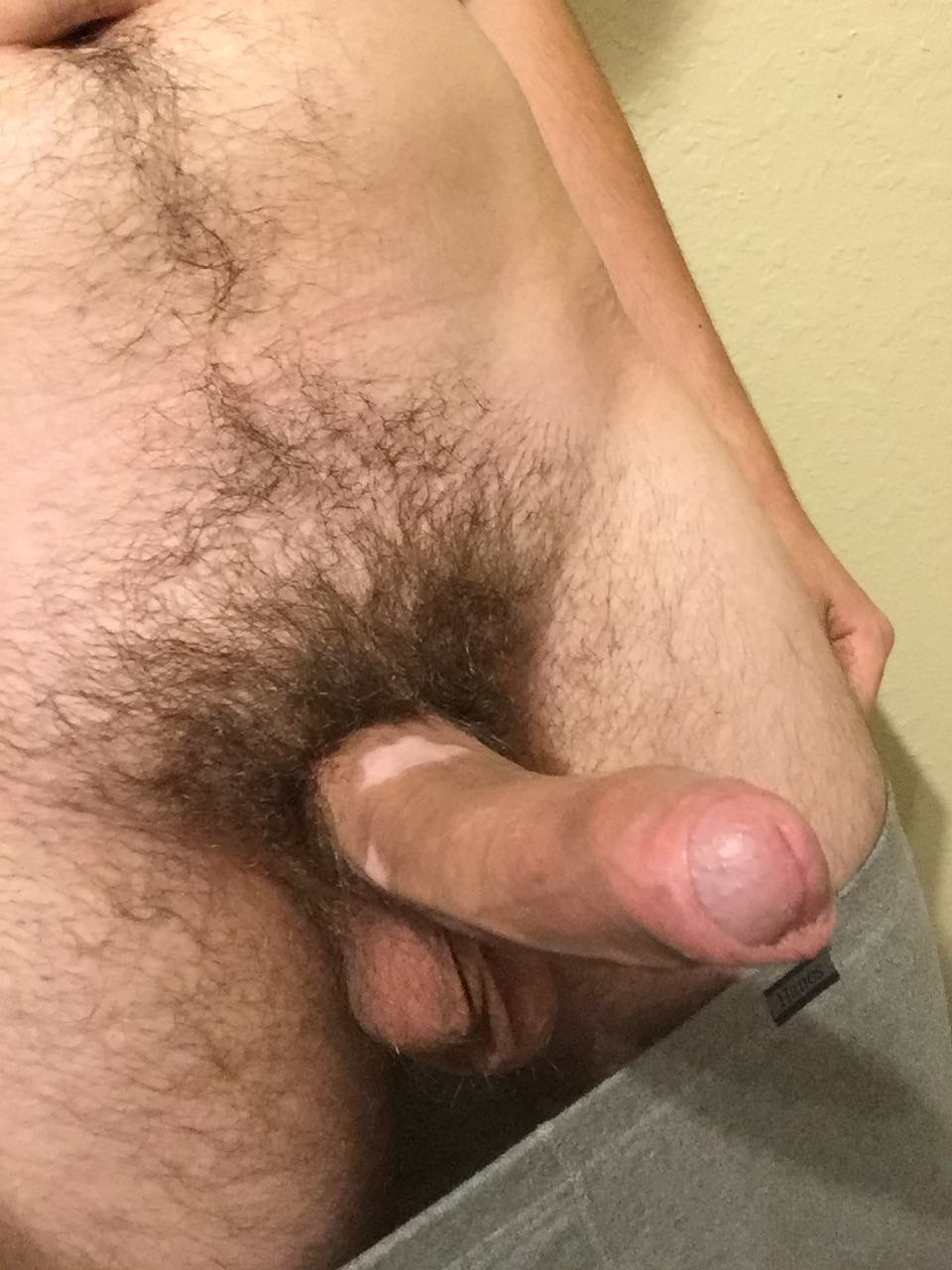 Up close big cock and balls