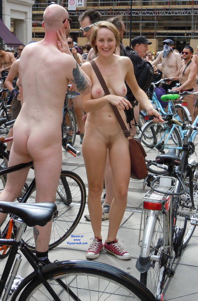 Nude girls riding sport bikes