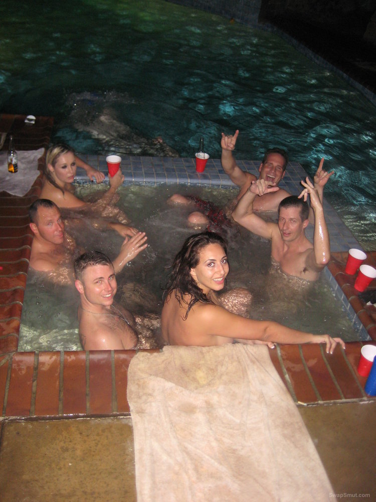 Hot tub sex party orgy