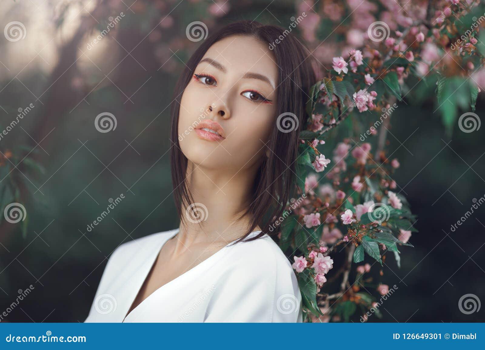 Japanese model close up