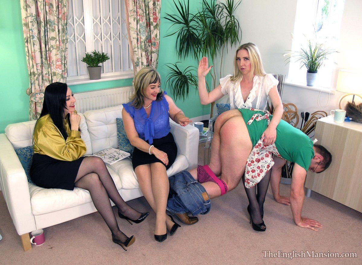 Adult women spanking women