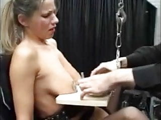 Women hanging by tits