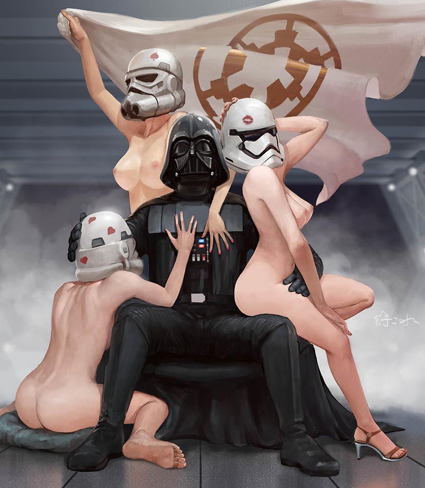 Naked star wars cartoon