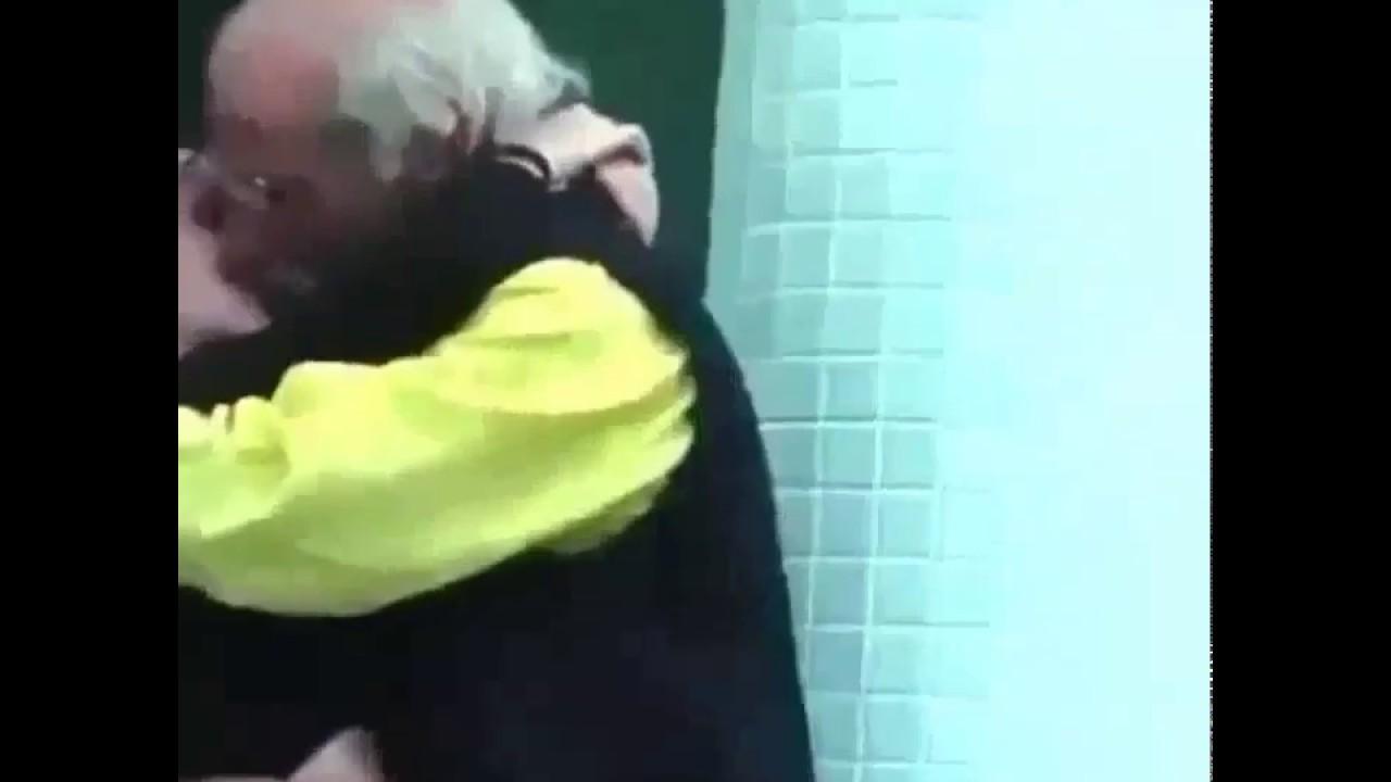 Kiss man teen old girl