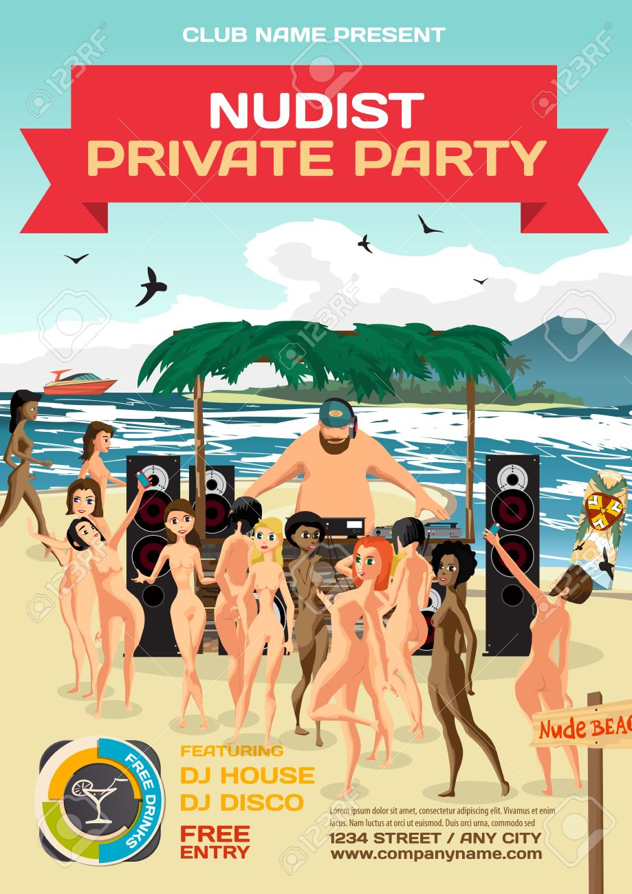Free beach party nude pic