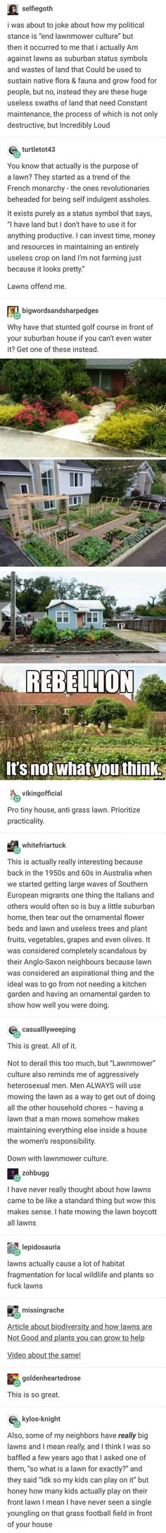 Sex while mowing field