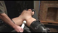 Girl tied up and forced to orgasm