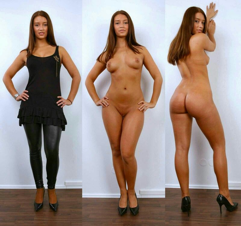 Naked girls clothed unclothed