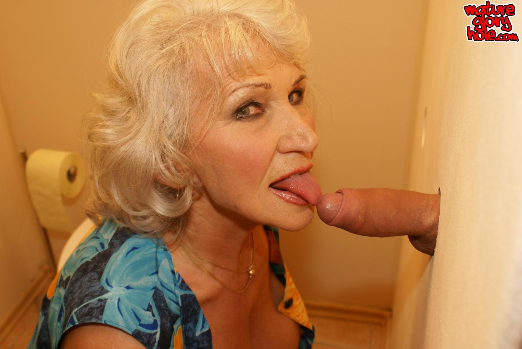 Glory hole mature granny