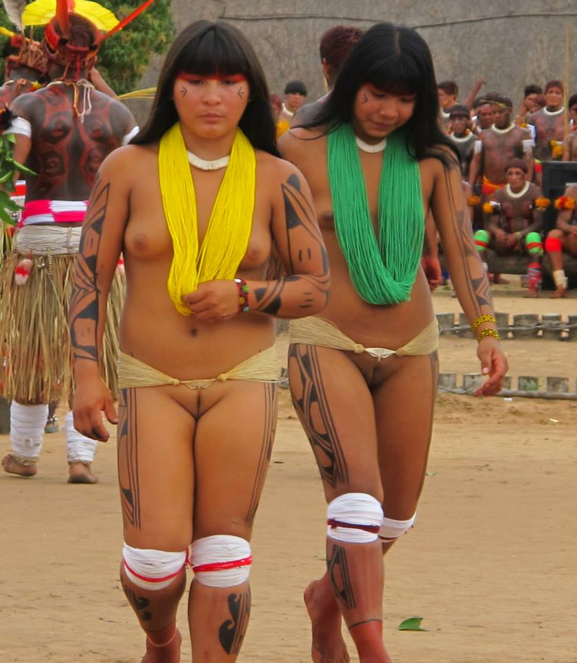 Tribal girl showing pussy