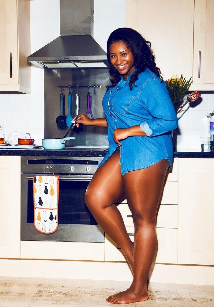 Light skin black women curves