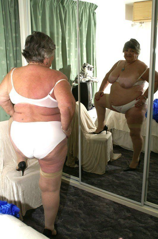 Panties wearing curvy girls granny