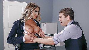 Puremature busty teacher seduces student
