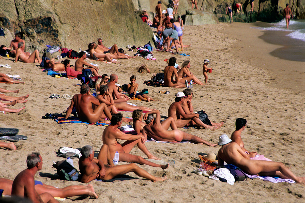 Naked having beach sex people