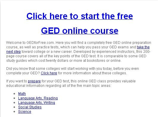 Free ged classes online for adults