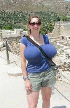 Tits granny huge candid amateur