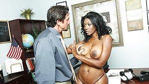 Black slender big boobs porn