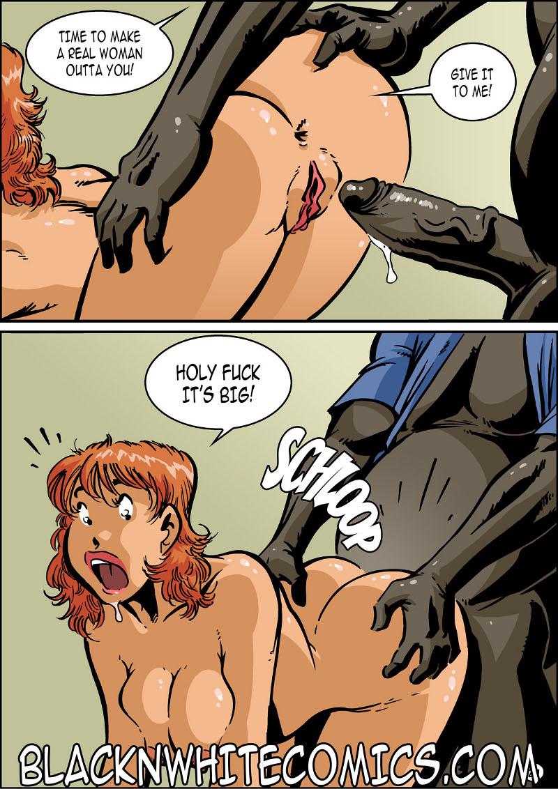 Campus police interracial comic