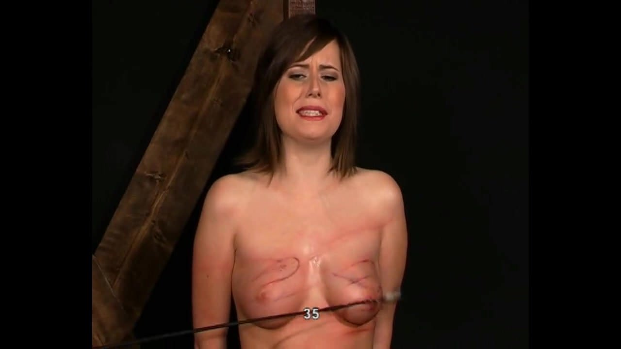 Tits slapped whipped caned