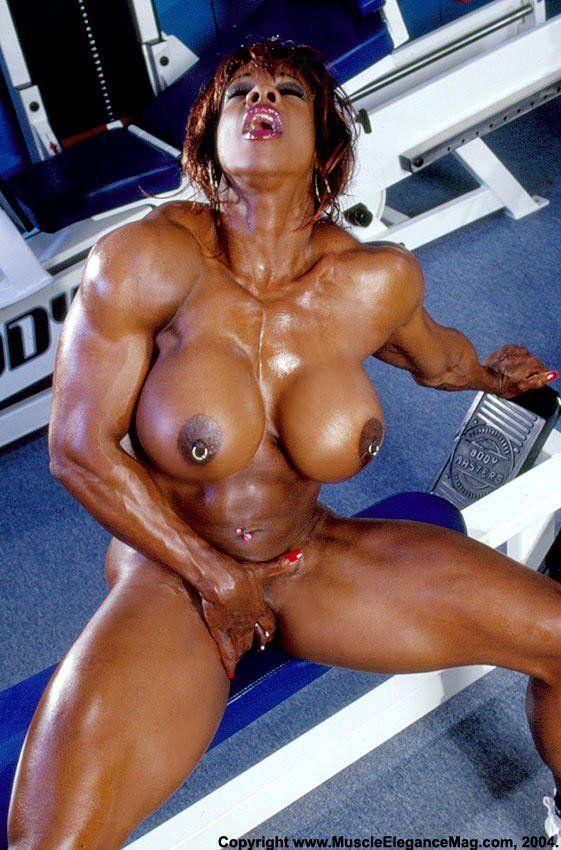 Nude black muscle ladies