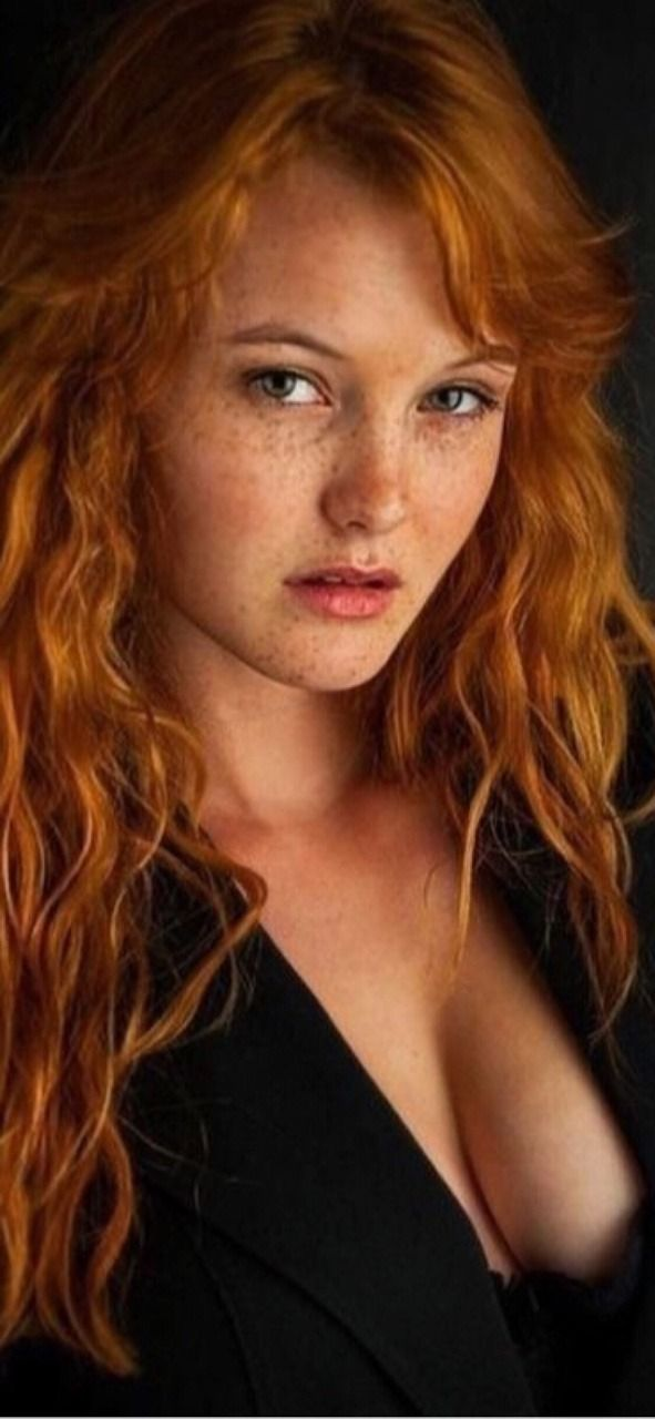 Amateur redhead with freckles