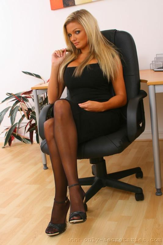 Blonde secretary anal sex