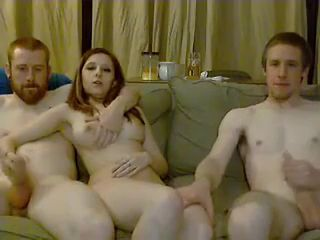 Swinger couple amateur gangbang