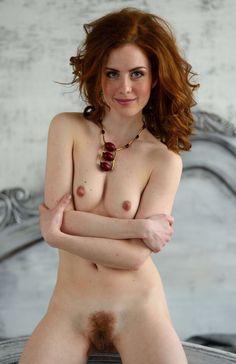 Nude redhead girl bush