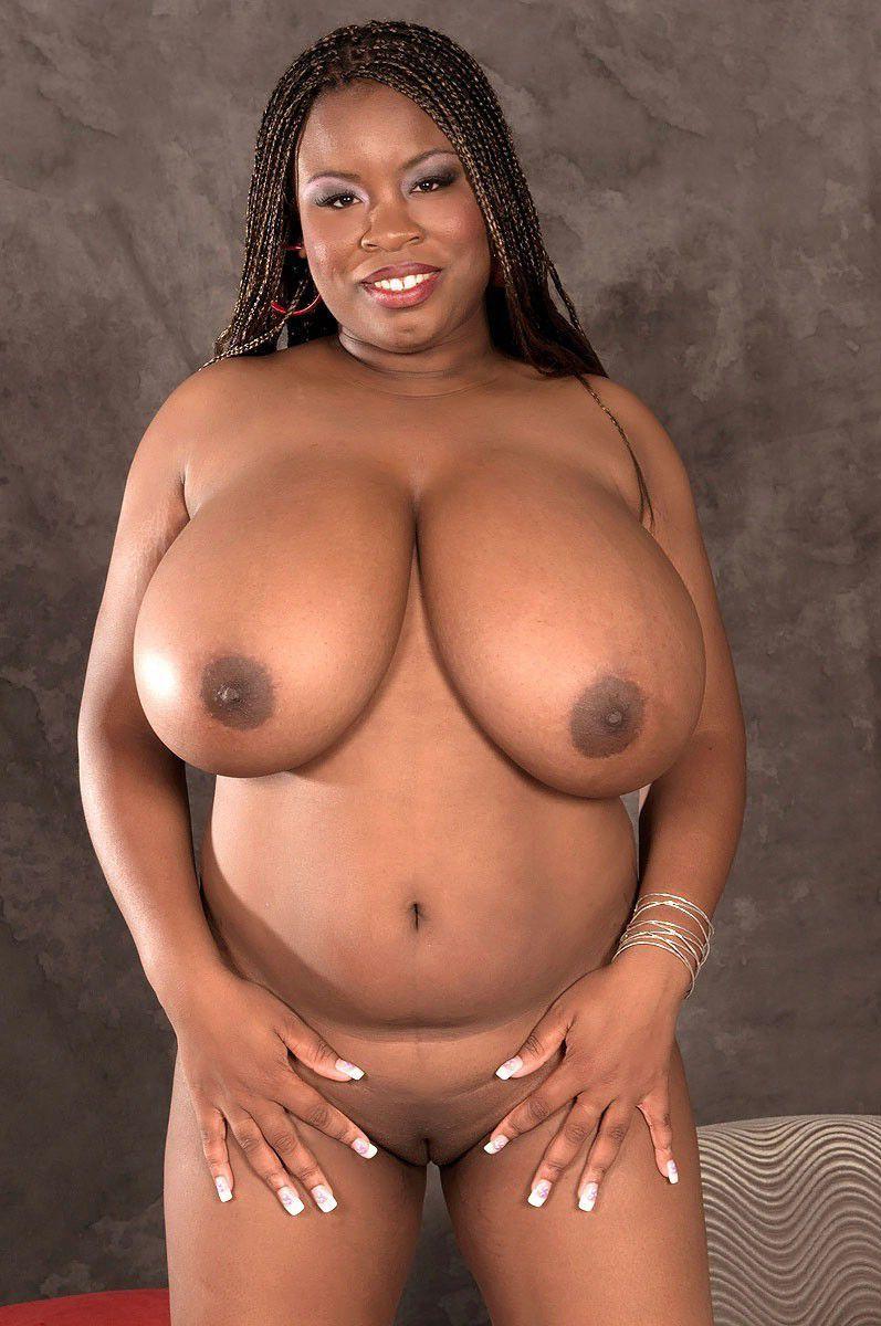 Black big naked boobs