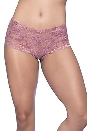 Amateur lace boy shorts