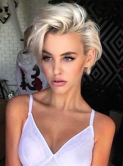 Sexy short blonde hair
