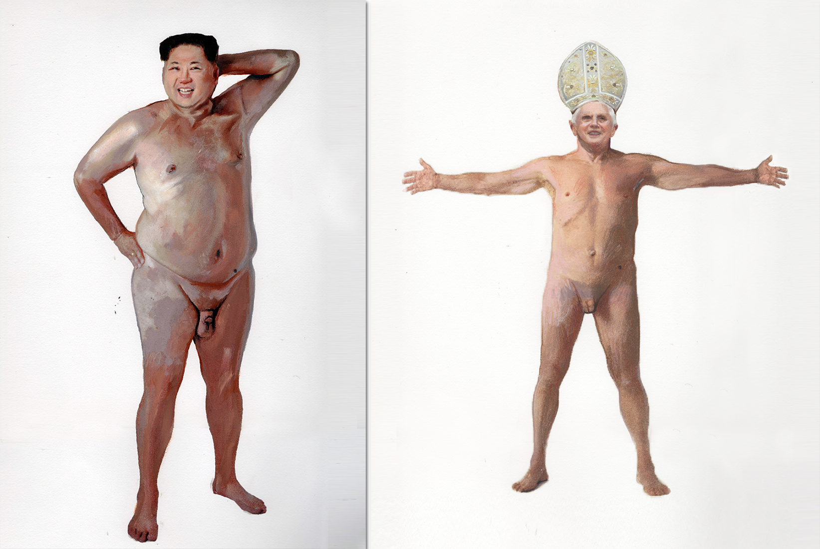 Hairless cock family nudism