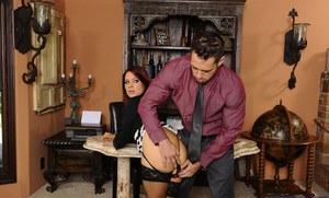 Asian office girl undressing