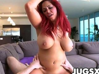 Big tit women riding cock