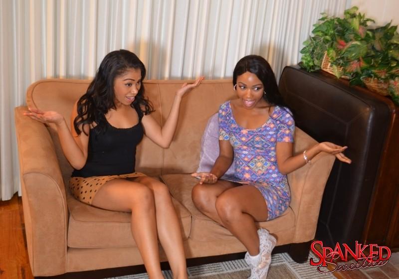 Girls spanked sweeties black