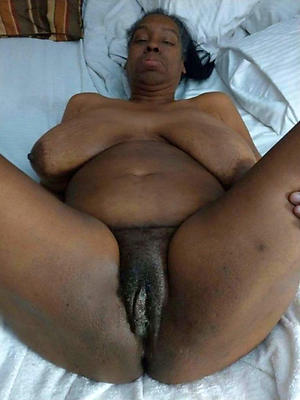 Amateur hairy ebony mature black