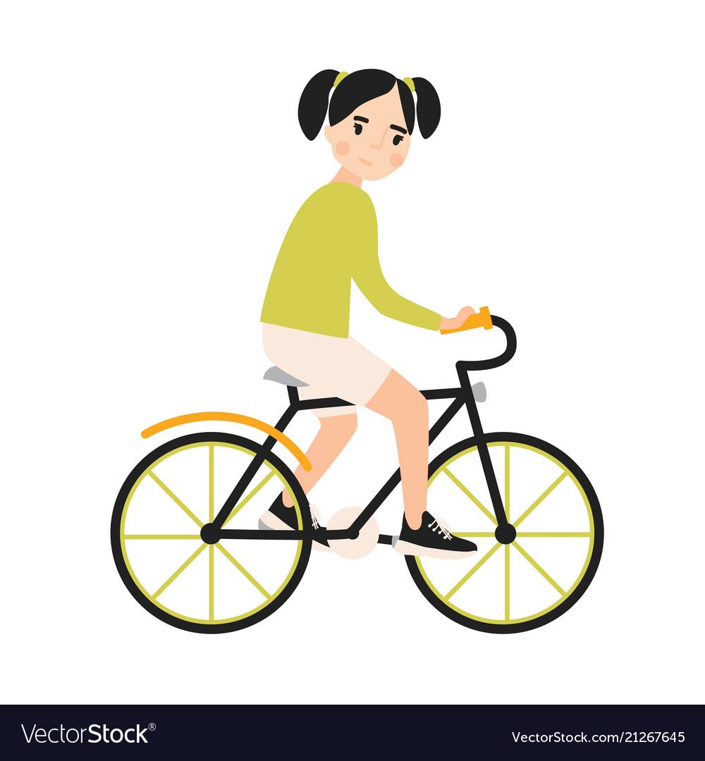 Cute girls riding bikes