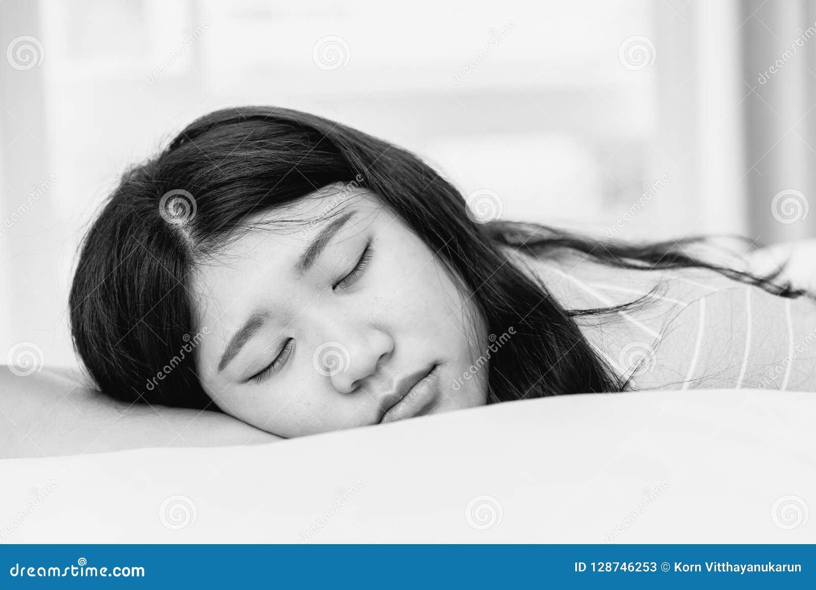 Girl cute young sleeping teen
