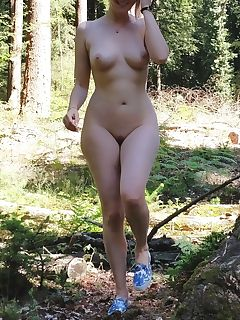 Girl naked forest chubby in