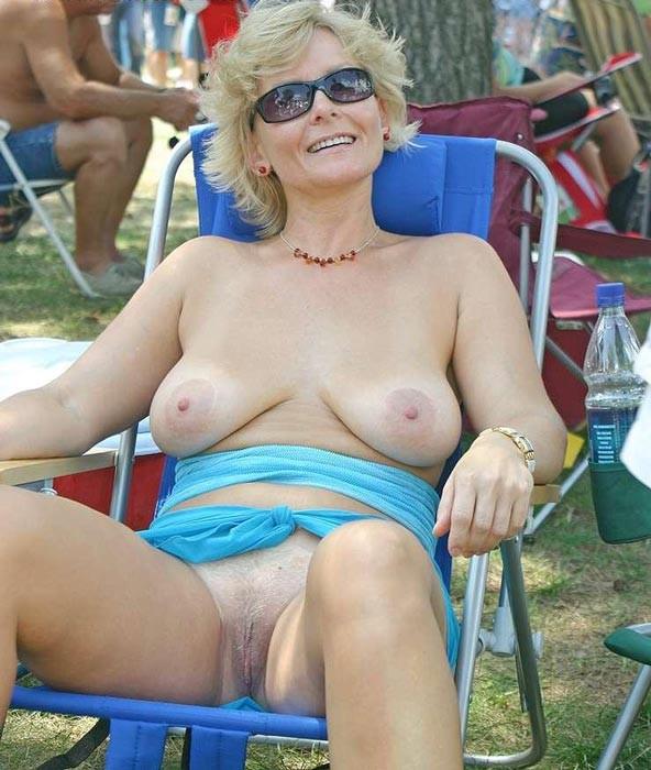 Granny nude pussy in public